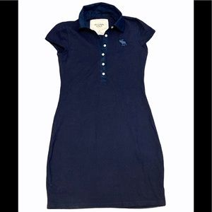 Abercrombie & Fitch Navy blue mini polo dress